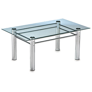 Stomy Chrome Oblong Coffee Table - Click for details
