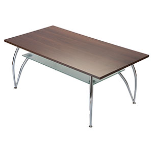 Bravo 2-Tier Oblong Chrome Coffee Table Coffee - Click for details