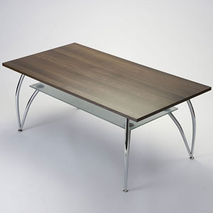 Bravo 2-Tier Oblong Chrome Coffee Table - Click for details