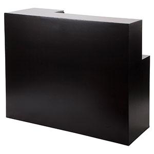 Capri Counter Straight Unit New Black - Click for details