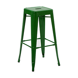 Tolix Stool Green - Click for details