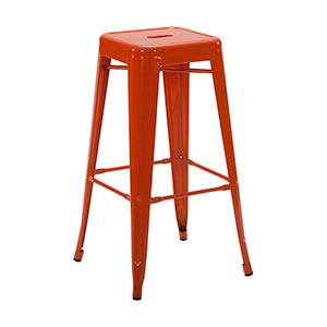 Tolix Stool Orange - Click for details