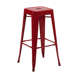 Tolix Stool Red - Click for details