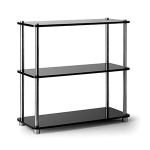 Perspex Tray 3-Tier Black - Click for details
