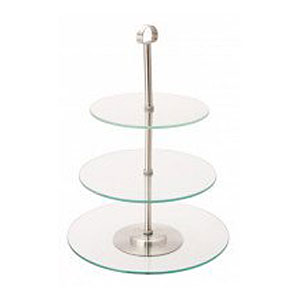 Glass 3 tier cake stand for hire from well dressed tables london - Cake tolix ...