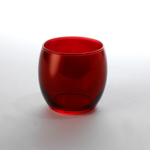 Globe Rock Glass Red - Click for details