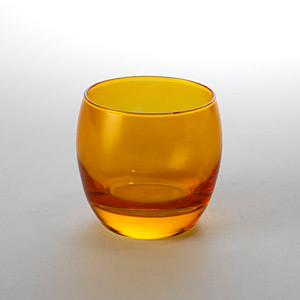 Globe Rock Glass Orange - Click for details