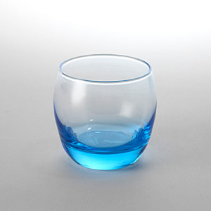 Globe Rock Glass Blue