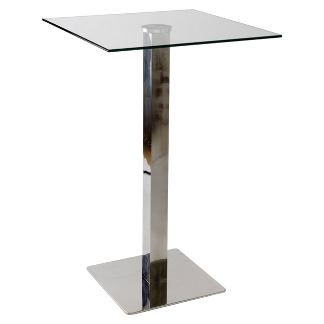 Pila glass cocktail table for hire from well dressed for Cocktail tables measurements