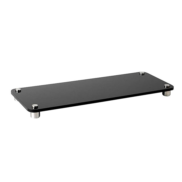 Perspex tray single tier black for hire from well dressed for Perspex canape trays