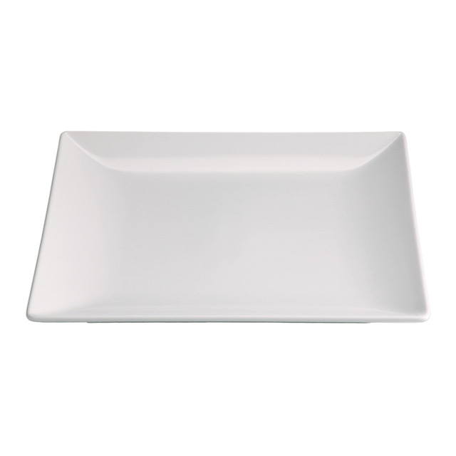 Valle White Square Plate For Hire From Well Dressed Tables