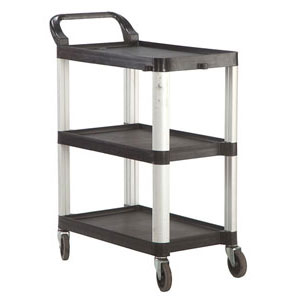 Clearing Trolley 3 Shelf Black