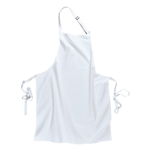 White Apron Bibbed