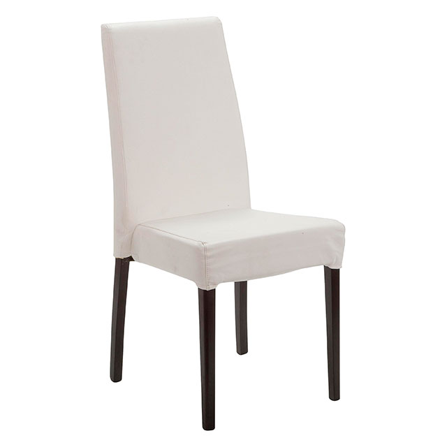Picasso Highback Dark Wood Dining Chair White