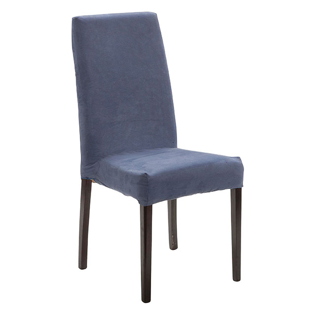 Picasso Highback Dark Wood Dining Chair Blue