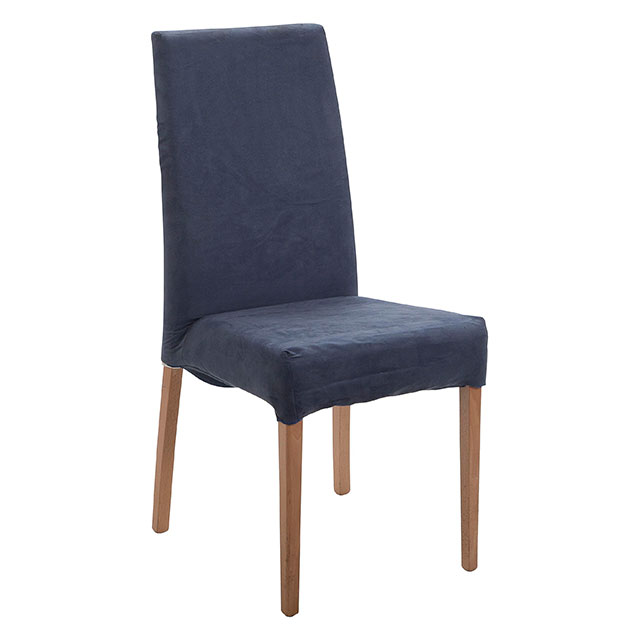 Picasso Highback Light Wood Dining Chair Blue
