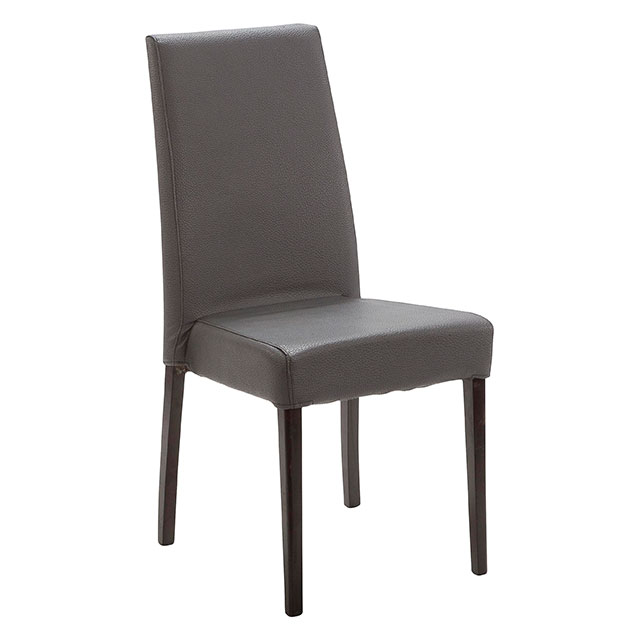 Picasso Highback Dark Wood Dining Chair Grey