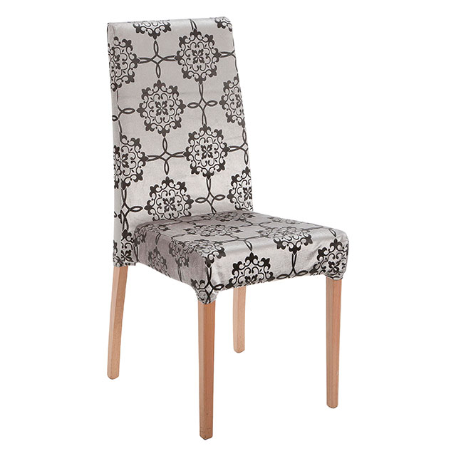 Picasso Highback Light Wood Dining Chair Silver Pattern
