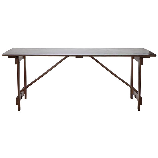 Trestle Table with Traditional Legs
