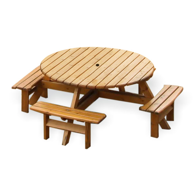 Picnic Table Benches Round