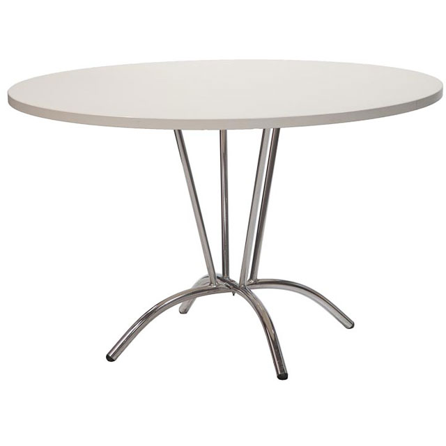 Alpha Five Bistro Table White