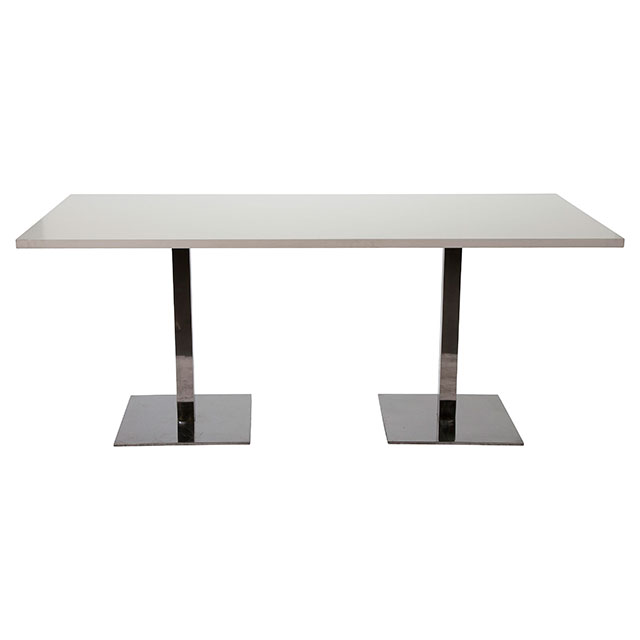 Pila Long Bistro Bench Table with White Top