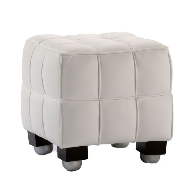Bubble Footstool Small White