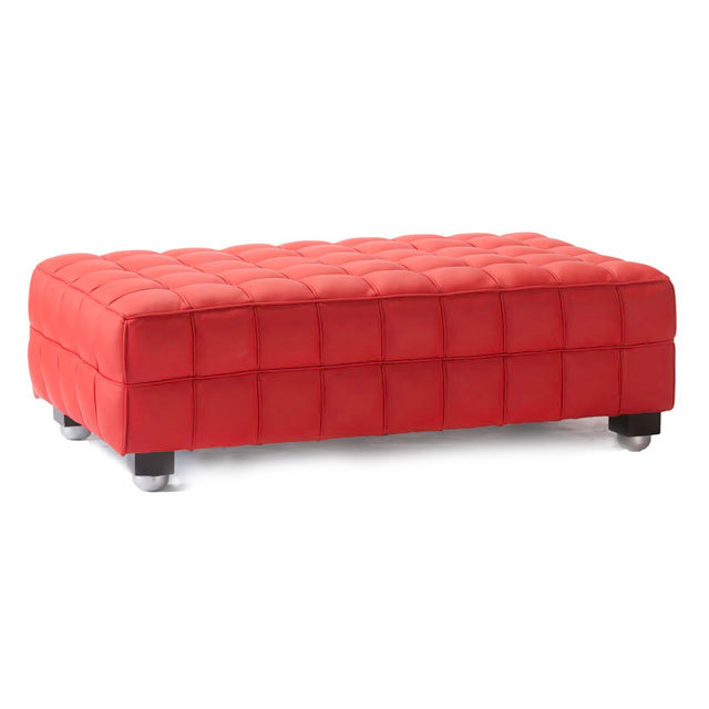 Bubble Footstool Large Red
