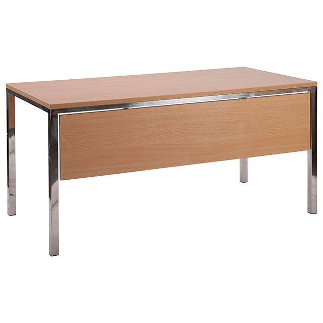 Liana Reception Desk Beech with Modesty Panel