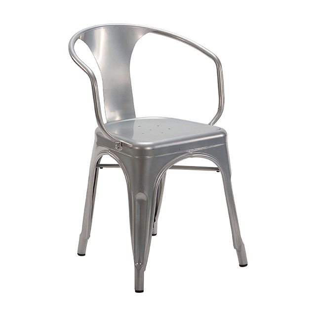 tolix chair silver with arms