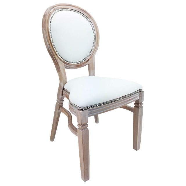 Clarmont Chair Lime Washed with White Seat Pad