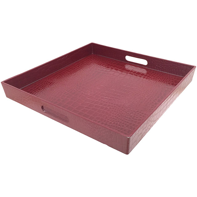 Red Gloss Square Tray
