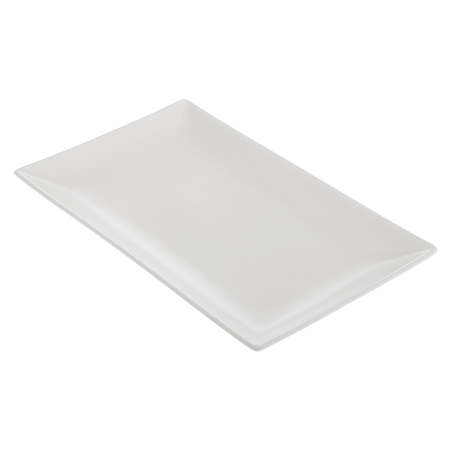Valle White Rectangle Plate