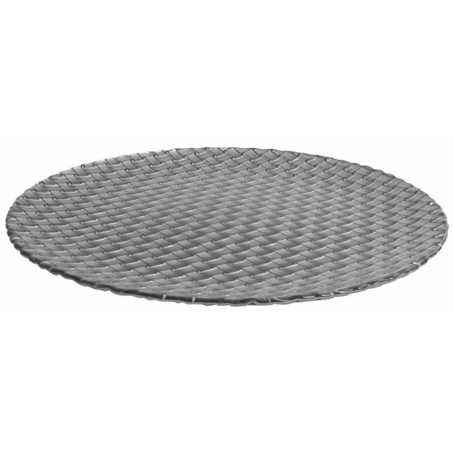 Glass Braid Canapé Plate Silver