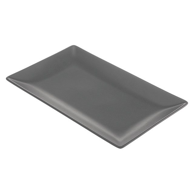 Valle Rectangle Plate Grey