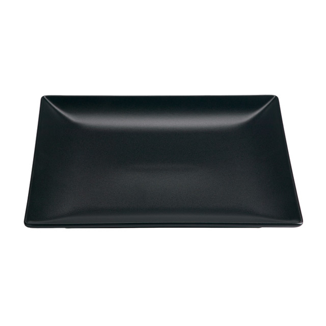 Valle Black Square Plate