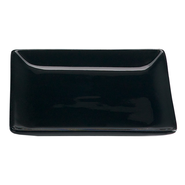 Valle Small Black Square Plate