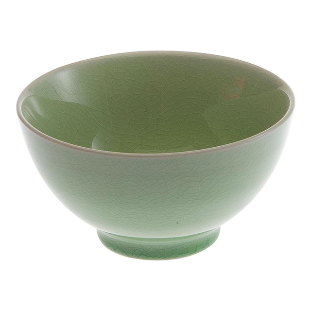 Green Crackle Bowl