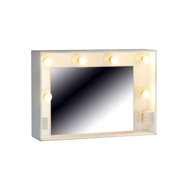 Mirror Make-Up Boxed with 13a Socket